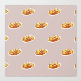 What I miss the most: Food Pattern Canvas Print