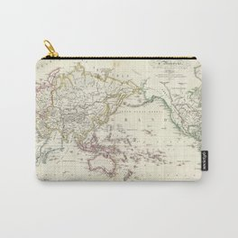 Vintage Map of The World (1816) Carry-All Pouch