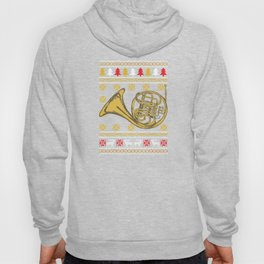 French Horn Ugly Christmas Sweater Holiday T-Shirt Hoody