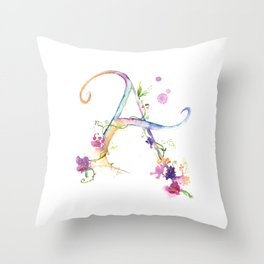 Letter A - Monogram Initial Throw Pillow