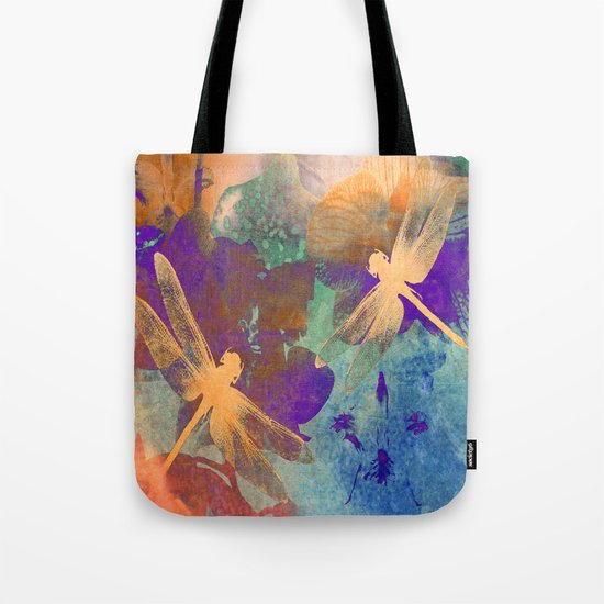 Orange Orange Dragonflies Tote Bag