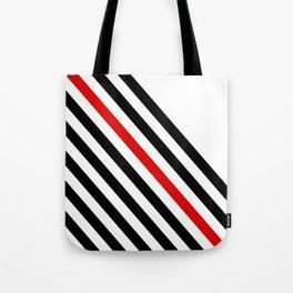 80s stripes Tote Bag