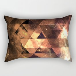 Triangular space Rectangular Pillow