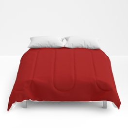 Crimson Red - solid color Comforters