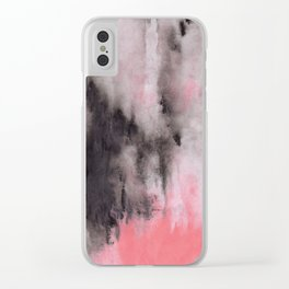 Abstract Acrylic 3 Clear iPhone Case