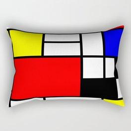 Mondrian Art Rectangular Pillow