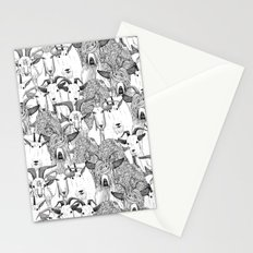 just goats black white Stationery Cards