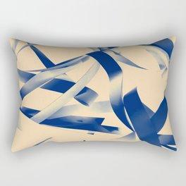 Blue paper stripes Rectangular Pillow