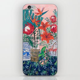The Domesticated Jungle - Floral Still Life iPhone Skin