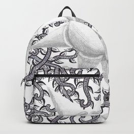 Geometric Flower and Vines Backpack