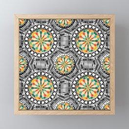 Beveled geometric pattern Framed Mini Art Print