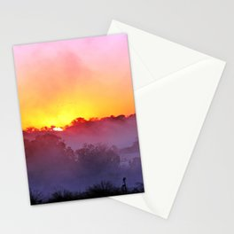 Sunrise with morning fog at a River in Africa  Stationery Cards