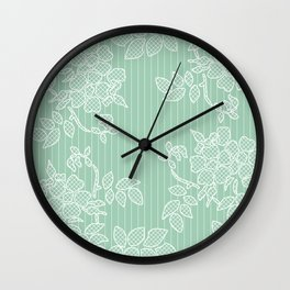 SPRING IN GREEN Wall Clock