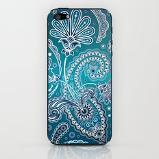 Blue Paisley iPhone & iPod Skin