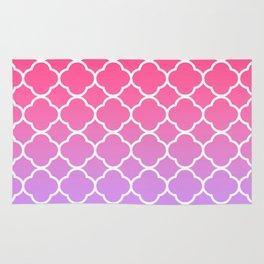 Pink & Lavender Ombre Quatrefoil Rug