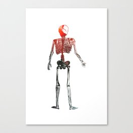 Skeleton in your closet Canvas Print
