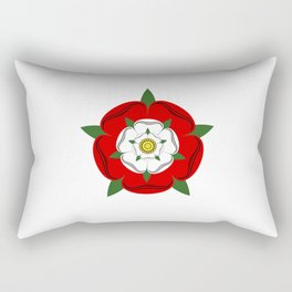 Tudor dynasty rose flag united kingdom great britain Rectangular Pillow