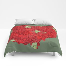 Ohio in Flowers Comforters