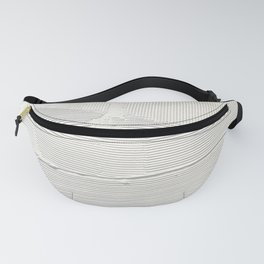 Relief [1]: an abstract, textured piece in white by Alyssa Hamilton Art Fanny Pack