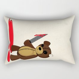 Psycho Teddy Rectangular Pillow