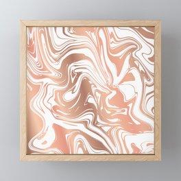 Liquid Copper Marble 029 Framed Mini Art Print