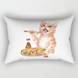 Sushi Cat Rectangular Pillow