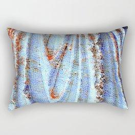 Caryatid in Blue Rectangular Pillow