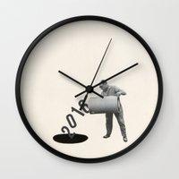 Noir Year Wall Clock