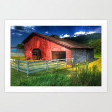 Barn in Valle Crucis, NC Art Print