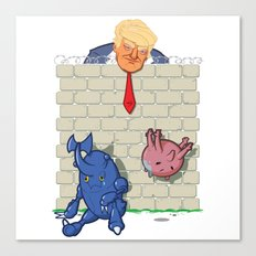 Donald Trump's Wall Canvas Print