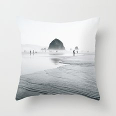 Cannon Beach Throw Pillow