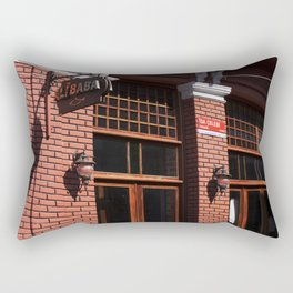 Red Brick Wall... Rectangular Pillow