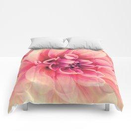 Her Smile (Spring Blooming Rose Pink Dahlia) Comforters