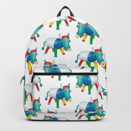 Steel Drum Colourful cow. Backpack