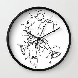 Skater parts Wall Clock