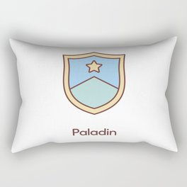 Cute Dungeons and Dragons Paladin class Rectangular Pillow