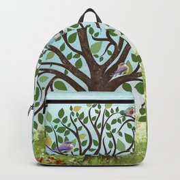 Little Song Birds in a Lovely Tree Backpack
