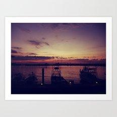 The Marina Art Print