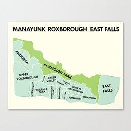 Manayunk, Philadelphia Version 2 Canvas Print