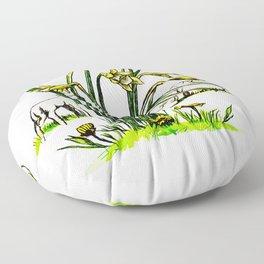 A Spring Day Floor Pillow