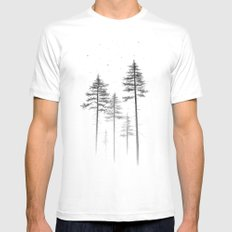 Look Up White LARGE Mens Fitted Tee