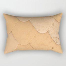 Pattern of orange rounded roof tiles Rectangular Pillow