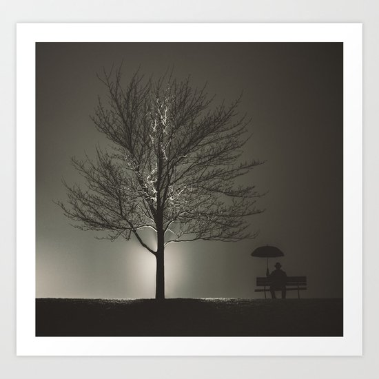 Sitting in the Night Art Print