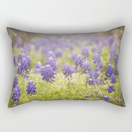 Texas Bluebonnets Rectangular Pillow