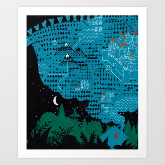 Russian Folk Tales - Go there, I don´t know where, bring me that, I don´t know what Art Print