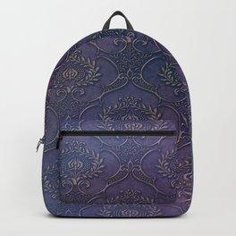 Purple Genie Bottle & Roses Backpack