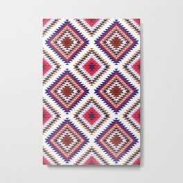 Aztec Rug Metal Print