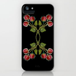 Embroidered Scandi Flowers iPhone Case