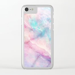 Iridescent marble Clear iPhone Case