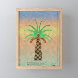La Palmera Canaria o phoenix canariensis Framed Mini Art Print